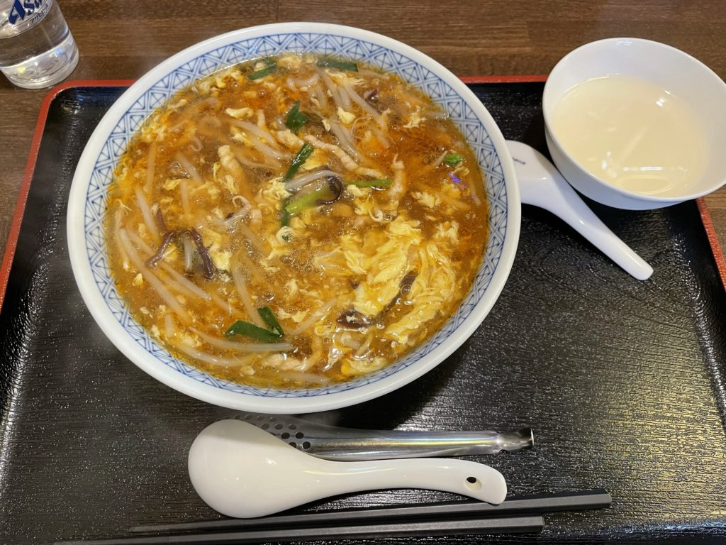 諏訪市 中国食堂城満のサンラータンメン